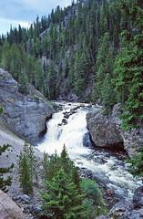 Wyoming - Firehole Falls - Yellowstone National Park  1978 (bigjohn1941) Tags: park falls national yellowstone wyoming firehole