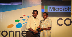Microsoft Innovation Awards Winner in the Tourism Category is Enchanted Landscapes. Presented to Henry Muuthia (2)