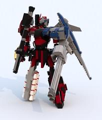 Harbinger Repair (TF Twitch) Tags: blue fiction mobile digital lego designer render science suit scifi fi gundam armored core sci mecha mech ldd blacktron bluerender