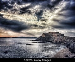 Photo accepted by Stockimo (vanya.bovajo) Tags: sunset sea sky storm weather rock architecture clouds sunrise french mediterranean tour cloudy fort military dramatic stormy nobody ramparts mysterious coastline fortification fortifications peninsula defensive mystic iphone battlements giens iphonegraphy stockimo