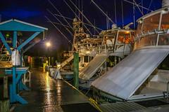 Fishing Boats at Dock (tclaud2002) Tags: usa fish night marina canon boats outside outdoors photography boat fishing dock florida photograph phot portsalerno piratescove 70d