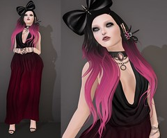 Post #1701 ( =^^=) Tags: pink black fashion rose glitter silver hair spiky blog shoes dress mesh emo goth earring makeup jewelry piercing ombre rings secondlife bow plug spike wildrose bracelets lipstick collar hud tentacle lipgloss choker jewel septum applier pinkatude sashakitteh