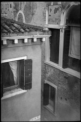 architectural forms and movements, shape relationships, Venice, Italy, Bencini Koroll 24S, Ilford FP4+, Moersch Eco Film Developer, late December 2015 (steve aimone) Tags: venice blackandwhite italy 120 film monochrome architecture mediumformat shapes shape ilfordfp4 bencinikoroll24s architecturalforms moerschecofilmdeveloper epsonperfectionv550 architecturalmovements shaperelationships
