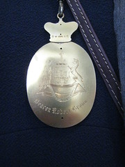 Deacon's Medallion - rear (miketransreal) Tags: edinburgh medallion guild incorporated websters trades 1475