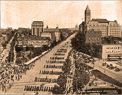 Parade at the National Peace Jubilee held Washington DC May 24, 1899 (SSAVE w/ over 5 MILLION views THX) Tags: washingtondc parade spanishamericanwar pennsylvaniaave oldpostofficebuilding peacejubilee may241899 jdgivens nationalpeacejubileeparade