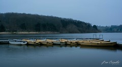 Boats on the reservoir (ben carpenter photography) Tags: uk morning reflection water misty landscape boats grey boat nikon leicestershire leicester reservoir tamron dull thornton d7100