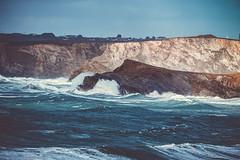 Atlantic waves (thebobwolf) Tags: ocean sea storm water waves harbour newquay cliffs atlantic rough