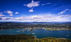Immer wenn ich den See seh... (blatnik_michael) Tags: lake austria sterreich wasser sommer wolken krnten oben klagenfurt wrthersee pyramidenkogel letthesummerbegin dersommerkannkommen