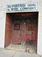 Portage Iron and Wire, Akron, OH (Robby Virus) Tags: door ohio abandoned home wire iron closed factory headquarters front company portage akron
