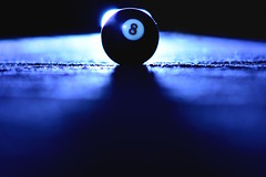Day Two Hundred One (fotoJared) Tags: blue pool ball eclipse nikon 8 april billiards 365 eight strobist 365project fotojared