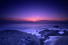After the Sunset (Samd7000) Tags: california sunset sea sky seascape clouds nikon rocks sandiego shore cloudscape sealrock d810 tokina2035mmf35