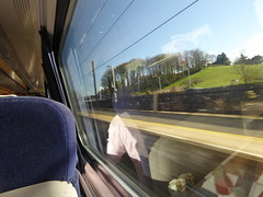 Virgin Trains 225 window view. Alnmouth (25/4/16) (*ECMLexpress*) Tags: for coast trains class east virgin alnwick alnmouth 91 225 ecml 91130 82231