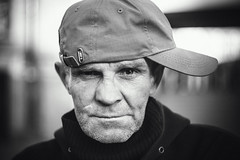 (red line highway) Tags: life street city portrait people blackandwhite white black monochrome face stpetersburg photography march spring nikon russia bokeh homeless photojournalism documentary social helios