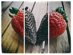 Strawberries (dommylive) Tags: food macro fruit triptych adobephotoshop strawberries