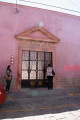 La Vencedora vanilla factory from the street, San Luis Potosi (davidvictor513) Tags: pink mexico factory entrance unescoworldheritagesite doorway vanilla sanluispotosi pinkwalls