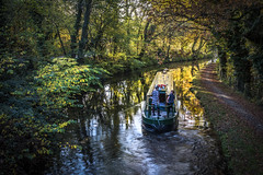 Life on the water (saundersc29) Tags: autumn trees colour history canal colours transport houseboat brecon foilage barge goldenhour flicker nikond750