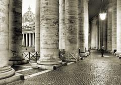San Pietro Colonnade (Bradley N. Weber) Tags: rome beam bernini pietro piazzasanpietro beammeup holylight holyplace berniniscolonnade