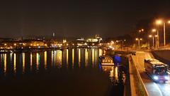 Non autobus (roj czech) Tags: city night river dark prague praha praskhrad vltava tma noc praguecastle nbe