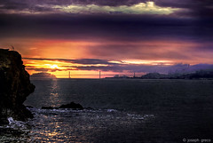 San Francisco Sunrise (Joseph Greco) Tags: sanfrancisco california bridge seascape fog clouds sunrise dawn bay cityscape oaklandbaybridge sanfranciscooaklandbaybridge d80