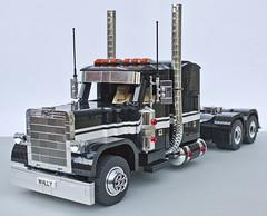PETERBILT TRUCK (jarekwally) Tags: white black truck blackwhite lego chrome wally peterbilt moc brickie lugpol jarekwally wallujarek