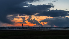 Overview Cologne/Bonn Airport during sunset (°TKPhotography°) Tags: