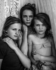 Sisters (.Betina.) Tags: girls blackandwhite sisters portrat betinalaplante