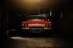 1962 Chevrolet Corvette Convertible in Roman Red (aJ Leong) Tags: 1962 chevrolet corvette convertible roman red 118 autoart