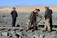 I_B_IMG_6311 (florian_grupp) Tags: china railroad train landscape asia mine desert muslim railway steam xinjiang mikado locomotive coal js steamlocomotive 282 opencastmine sandaoling