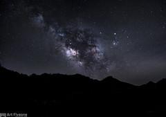the Milky Way (Art Fiveone) Tags: japan night stars landscape nightscape nightshot plateau galaxy  astronomy nightview nara  starry  soni milkyway  distagon carlzeiss         astroscape distagon3514zm