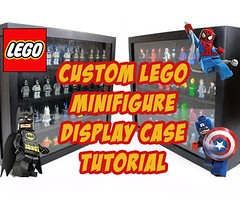 Custom Lego Minifigure Display Case Tutorial (OneBadawan) Tags: man justice war iron lego display spiderman case superman collection civil american captain batman vs custom showcase league moc minifigures