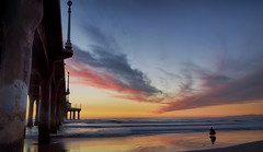 If we could but paint with the hand what we see with the eye (ferpectshotz) Tags: sunset beach coast losangeles surfer surfing pacificocean manhattanbeach cityofangels manhattanbeachpier