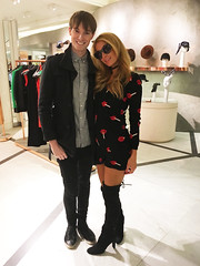 Paris Hilton & Richard Brownlie-Marshall at Selfridges, London (Richardsbm) Tags: travel paris london sunglasses television fashion shopping scott star hotel parishilton boots designer hilton style icon jeremy selfridges reality week entertainer moschino fashionista oxfordstreet bondstreet socialite entrepreneur selfridge brownliemarshall richardbrownliemarshall