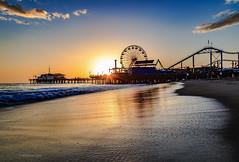 Santa Monica sunset (Robert R Fernandez) Tags: sunset water cali pier waves santamonica