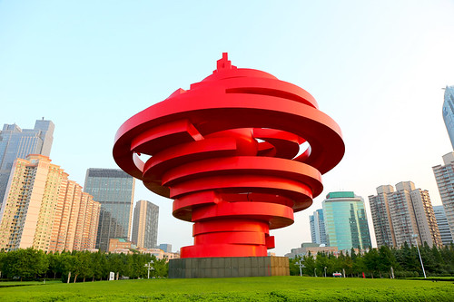 A stunning example of modern art in Qingdao city China