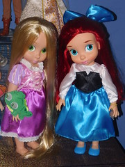 2 Beauties... (belleanderuhin) Tags: blue ariel store doll dress princess little disney collection mermaid pascal rapunzel tangled animator