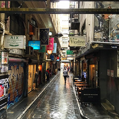 A rainy afternoon in Centre Place in Melbourne #rainyday #melbourne #laneway #centreplace (ultrakml) Tags: rainyday australia melbourne victoria iphoto centreplace appleiphone6splus