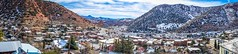 Panoramic shot of Bisbee with the Copper Queen mine shrouded in snow.