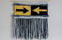 Arrows Weaving (thenotionsbox) Tags: handmade crafts craft arrows arrow woven weaving weave wallhanging handwoven