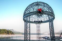 Christmas @Lake Ashi (jangkwee) Tags: christmas travel red lake water japan ribbon hakone hdr