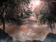 Takeshi's Castle (ArtNinjaph) Tags: anime composition forest photomanipulation landscape effects temple comic dragon artistic manga manipulation cave cinematic photocomposition mattepainting takeshiscastle istaipen saiteria bekilandia