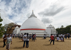 The White Stupa at Kelaniya, Colombo, Srilanka (Anoop Negi) Tags: travel white photography photo buddha stupa buddhist buddhism srilanka ceylon maha anoop raja gautam negi kelaniya vihara ezee123 colmbo