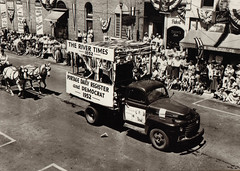 Parade Float, Portage Daily Register & Democrat, 1952