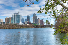 003/365.2016 Sunday in the Park (OscarAmos) Tags: water skyline austin downtown texas coloradoriver townlake hdr lightroom 18200mm photomatix tonemapped detailenhancer topazadjust nikond7200