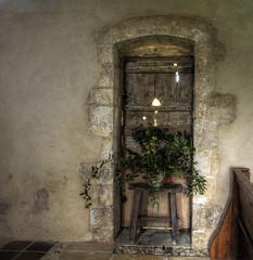 Norman door in an Anglo-Saxon Church at Little Somborne. (neilalderney123) Tags: door church olympus norman doorr littlesombourne 2016neilhoward