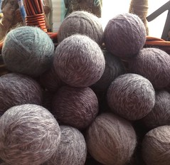 "Our latest crop of handmade wool dryer balls is finished with the felting process. I'll be making the matching baskets today so that I can send them on their way to you!  #1840farm #farmhousestyle #handmade #wool #fiber #felted #dryerball #etsy #etsyshop • <a style=""font-size:0.8em;"" href=""http://www.flickr.com/photos/54958436@N05/24080494684/"" target=""_blank"">View on Flickr</a>"