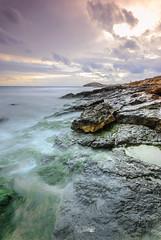 Calblanque (Fernando Crego) Tags: sunset seascape clouds landscape atardecer nikon playa murcia d90 calblanque parqueregionaldecalblanque