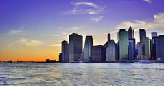 Sunset at bank of Hudson NYC (saurabh00_gupta) Tags: nyc blue sunset sky cloud nature water evening bank vista hudson buldings refelection reiver concreate sunsetmania naturevista narurevista