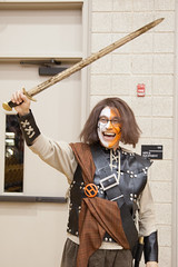 "Bill as ""The Warrior"" (Hendrix College) Tags: basketball us bill conway unitedstatesofamerica ivan mascot indoors warriors arkansas hendrixcollege thewarrior yespeople presidenttsutsui"