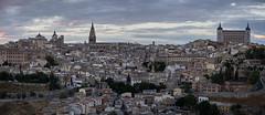 Toledo al anochecer (Edgardo W. Olivera) Tags: city sky panorama espaa cloud architecture landscape lumix spain europa europe dusk ciudad paisaje panasonic toledo cielo nube alczar airelibre gh3 microfourthirds edgardoolivera