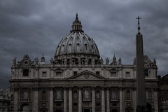 Vatican (davo.pineros) Tags: travel italy pope vatican cold rome roma church architecture dark de religious san solitude catholic darkness cathedral sinister basilica pedro desolation stpetersbasilica catholiccathedral catholism thedarkheartofeurope